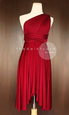 The perfect bridesmaids dress! Wine Red Bridesmaid Convertible Infinity Dress by thedaintyard.