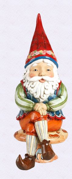 "Jim Shore 12"" Gnome ""Frode"" New 