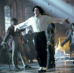 Michael Jackson on the set of Ghosts