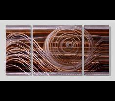 Encompass the Soul III - Modern Abstract Metal Wall Art Painting by Jon Allen: Contemporary Metal Art Sculptures by Jon Allen