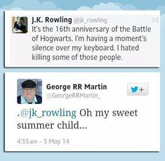 Martin's probably thinking she didn't kill enough people... =P