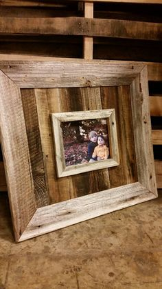 Natural 8x10 Barn Wood Picture Frame by JMacDesignsFrames on Etsy