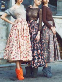 Choies Limited Edition Sergeenko Floral Midi Skirt | Choies