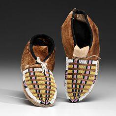 Plateau Beaded Hide Moccasins (9/20/2013 - Fall American Indian Art)