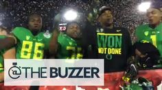 "Oregon Ducks players chant ""no means no"" with tomahawk chop"