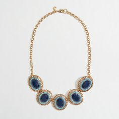 Factory stone and bead cameo necklace via J.Crew Factory. Amazing price for such a bold piece.