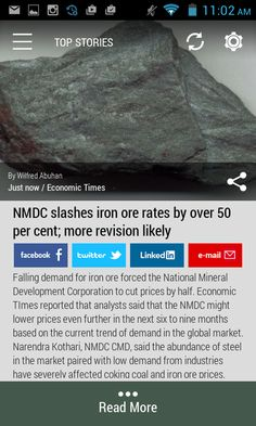 #ironore #NMDC #mining  Download the FREE Born2Invest Android app to get the full scoop and many more business news summaries.