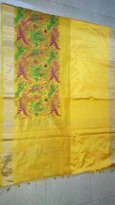 Munga satin cotton sarees with embroidery work design | Buy Online Munga cotton sarees | Elegant Fashion Wear
