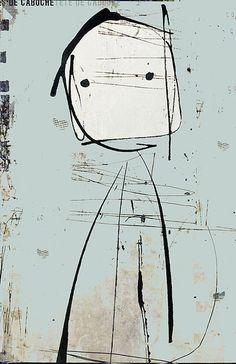 Painting by Linda Vachon Modern Art, Contemporary Art, Street Art, Art Graphique, Weird Art, Portrait Art, Portraits, Face Art, Figurative Art
