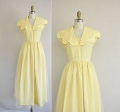 50s scallop collar dress / vintage 50s by simplicityisbliss, $148.00