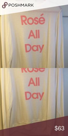 "WILDFOX ""rose all day"" BBJ L NWOT WILDFOX ""Rose all day"" BBJ size large price is firm NO TRADES NO HOLDS Wildfox Sweaters Crew & Scoop Necks"
