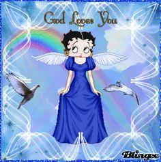 blue betty angel ... God loves you!