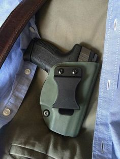 This is a customized inside the waistband holster made of Kydex and keeps your weapon concealed but always ready. Inside The Waistband Holster, Kydex Holster, Concealed Carry, Army Green, Weapon, Guns, Action, Weapons Guns, Group Action