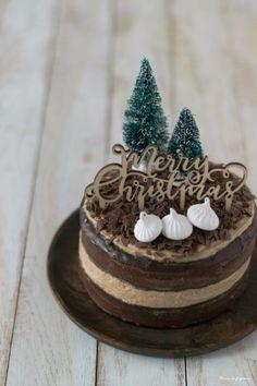 {Dessert de Fêtes} – Layer cake café & chocolat.