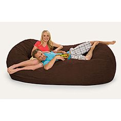 @Overstock - Give your home a new look and feel with this awesome bean bag. This bean bag can be laid down like a bed or propped up like a chair and features Durafoam blend fill. http://www.overstock.com/Home-Garden/Slacker-Sack-8-foot-Oval-Dark-Brown-Microfiber-and-Foam-Bean-Bag/6735465/product.html?CID=214117 $348.99