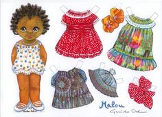 MALOU – by Guido Odin, a gentleman from Europe. He came to the International Paper Doll Conventions, 2003 in Cleveland, Ohio. Paper Doll Craft, Doll Crafts, Paper Toys, Paper Crafts, Doll Toys, Baby Dolls, Reborn Dolls, Reborn Babies, Paper Dolls Printable