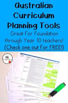 If you're on the lookout for Australian Curriculum Planning Tools to help you get organized for the entire school year, THIS is the place for you! You'll find great materials plus a FREE EDITABLE download for your Foundation through Year 10 students. You'll want to check this one out to make this your best year yet. {Classroom organization, Australia curriculum, Year 1, 2, 3, 4, 5, 6, 7, 8, 9, 10, back to school, lesson or unit planning, freebie}