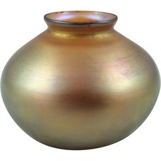 Steuben Gold Aurene Lamp Shade Signed  ca. 1903-1931 found at www.rubylane.com @rubylanecom