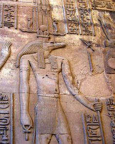 The ancient gods of Egypt are often depicted as carrying ankh signs. We find Anqet, Ptah, Satet, Sobek, Tefnut, Osiris, Ra, Isis, Hathor, Anibus and many other gods often holding the ankh sign, along with a scepter, and in various tomb and temple reliefs, placing it in front of the king's face to symbolize the breath of eternal life.
