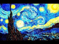 Starry Night - Step by Step Acrylic Painting on Canvas for Beginners - YouTube