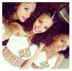 African Ethiopian Habesha Brides And Weddings Ethiopian Wedding Dress, Ethiopian Dress, African Beauty, African Women, African Fashion, African Style, Ethiopian Beauty, Ethiopian Jewelry, Eritrean