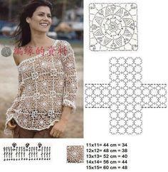 sweter | Kraina wzorów szydełkowych...Land crochet patterns..