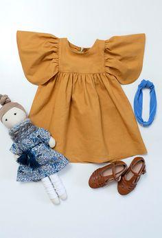 Handmade Linen & Cotton Butterfly Dress | MayaAndMe on Etsy