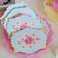 Doll Tea Party Invitations by Betsy Veldman for Papertrey Ink (March 2012)