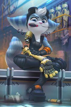 Furry Art, Arte Furry, Jak & Daxter, Fan Art, Video Game Characters, Video Game Art, Ratchet, Character Art, Cool Art
