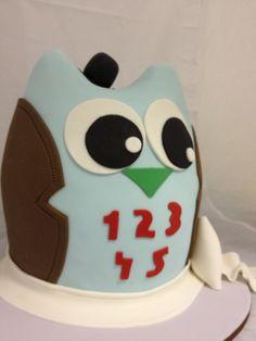 boy owl novelty cake
