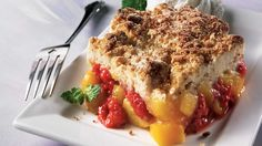 Raspberry Cobbler, Pastry Blender, Vanilla Yogurt, Toasted Almonds, Non Stick Pan, French Toast, Deserts, Sweets, Dishes