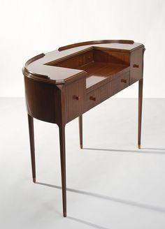 Fine Art Deco French Ruhlmann Style Mahogany Vanity