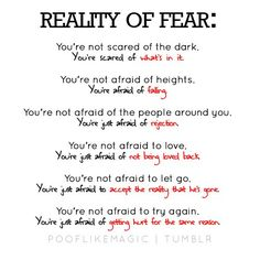 fear. a powerful enemy