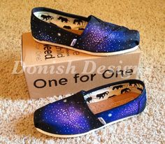 Galaxy TOMS Shoes by DonishDesigns on Etsy, $98.00