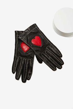 Vintage Moschino Leather Gloves   Shop Vintage Goldmine #4 - Dolce & Gabbana at Nasty Gal
