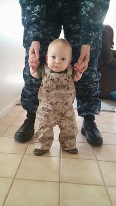 Military Kids Romper Army Navy Marines Air by KaseyCreations