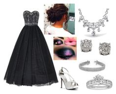 """Black Dress-Maddie"" by thatrandomnerdygirl on Polyvore featuring Touch Ups, Bling Jewelry, Effy Jewelry and Tiffany & Co."