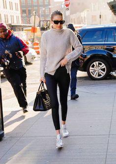 Gigi Hadid goes to Soho House on January 15 2018 in New York City