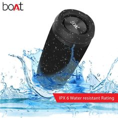boAt Stone SpinX Portable Wireless Speaker with Stereo Sound, Up to Playtime, Water & Splash Resistance, Mountable Design and TWS Feature (Cobalt Blue) Cool Bluetooth Speakers, Waterproof Bluetooth Speaker, Portable Speakers, Amazon Fire Tv Stick, Bass Boat, Audio Sound, Security Cameras For Home, Boombox