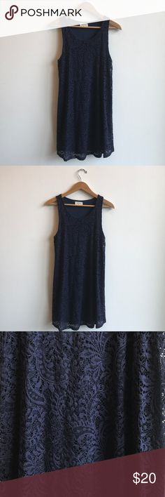 Everly Navy Lace Swing Mini Dress Size Medium Everly Navy Lace Swing Mini Dress Size Medium. Worn once! Very flattering and can be dressed up or casual. Everly Dresses Mini