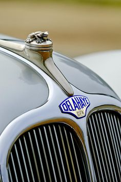 1947 Delahaye 135 Ms Langenthal Coupe Hood Ornament And Emblem Photograph by Jill Reger