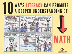 10 Ways Literacy Can Promote A Deeper Understanding Of Math - TeachThought PD Critical Thinking Activities, Critical Thinking Skills, Build Math, Computational Thinking, Classroom Images, Math Writing, Math Stem, Whole Brain Teaching, Love Math