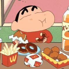 eat ur favorite # love ur life like me Crayon Shin Chan, Sinchan Wallpaper, Kawaii Wallpaper, Sinchan Cartoon, Vintage Cartoon, Kawaii Anime, Cartoons Love, Cartoon Profile Pictures, Cute Cartoon Wallpapers