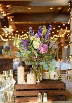 purple wedding centerpieces/ rustic - Google Search