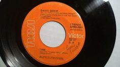 "DAVID BOWIE  Time / The Prettiest Star (Rare Rock 45 Vinyl 7"") RCA #BritishInvasion"