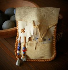 ~~~ PALOMINO Deerskin Bag ~~~    Originally designed to hold Tarot cards, this pouch is perfect for so many things. Simple in design with a very