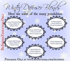 Winter Diffuser Blends http://www.mydoterra.com/renitafullam/ doTERRA essential oils