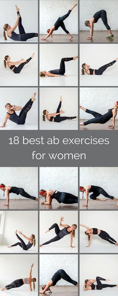 18 best ab exercises for women | refresh your core routine with these 18 ab exercises; it will challenge the two dozen muscles between your hips and shoulders from every angle. | www.nourishmovelove.com