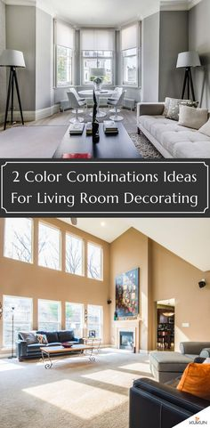 Whether you love complementary hues, contrasting shades, or sophisticated monochrome, today we bring to you our best two color combination for living room ideas. #LivingRoomDecor #LivingRoomPaintColors #WallPaintColors
