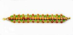 Free pattern for beaded bracelet Summer Field   Beads Magic- 1